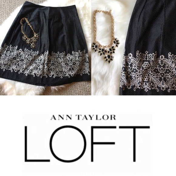 LOFT Dresses & Skirts - Pretty Ann Taylor LOFT Polk-a-dot Skirt